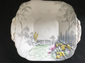 Melba serving plate - Country garden